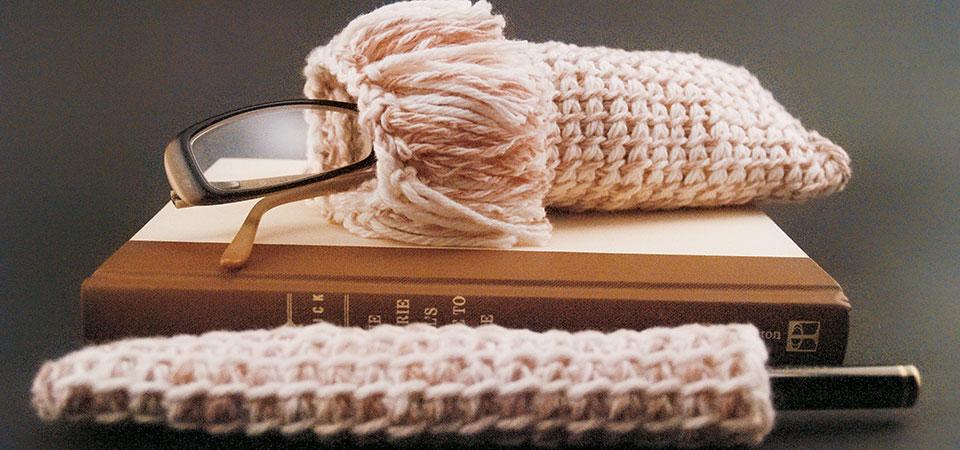 Tunisian Crochet Hook knitted cases